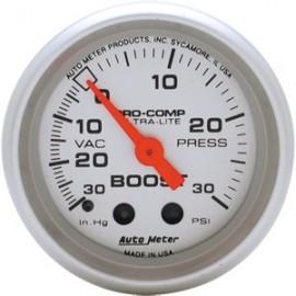 Tacometro Autometer Medidor presion vacio Ultralite 4303