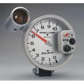 """Tacometro Autometer 5"""" Sport Comp Silver/Shift lite"""