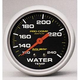 Autometer 5432 Medidor temperatura de Agua Pro Comp