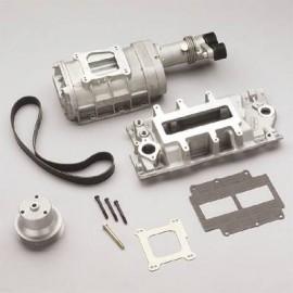 Kit de supercargador tipo roots para motor V8 a carburador, mas de 100 hps directo al motor